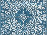 Brandt Blue area Rug Brandt Floral Blue area Rug
