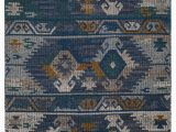 Brennen Blue area Rug Elan southwestern Handmade Blue Gold area Rug