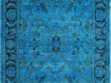 Bright Blue Shag Rug Vendimia Rugs Overdye Jaya Bright Blue Rug