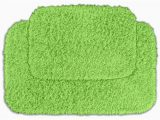 Bright Green Bath Rugs Quincy Super Shaggy Lime Green Washable Runner Bath Rug