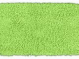 Bright Green Bath Rugs somette Quincy Super Shaggy Lime Green Washable Runner