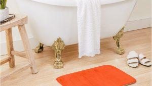 Bright orange Bath Rugs Bright Fluorescent attack orange Neon Bath Mat