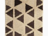 Brown and Beige Bathroom Rugs Beige & Coffee Brown Triangular Patterned Bath Rug