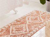 Brown and Beige Bathroom Rugs Sienna Kilim Bath Mat