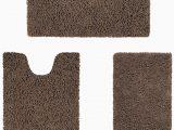 Brown and Blue Bath Rugs Amazon Homeideas Value 3 Pieces Bathroom Rugs Set Grey