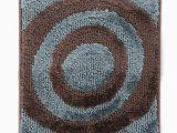 Brown and Blue Bathroom Rugs Spaces Brown & Blue Circular Patterned Bath Rug