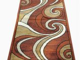Brown and Rust Colored area Rugs Modern Long Contemporary Runner area Rug Brown Rust Bellagio Design 144 32 Inch X 10 Feet