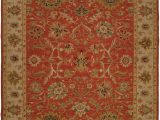 Brown and Rust Colored area Rugs oriental Hand Knotted Wool Rust Red Beige area Rug