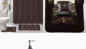 Brown Bath Rug Set 22 Piece Bath Accessory Set Beverly Chocolate Brown Bathroom Rug Set Shower Curtain & Accessories