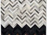 Brown Black and Gray area Rugs Chevron Handmade Leather Gray Brown Black area Rug