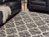 Brown Black and Gray area Rugs Kaila Black Cream Gray Medium Rug
