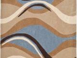 Brown Blue Tan area Rug Safavieh Modern Art Mda617a Blue Brown area Rug Last Chance