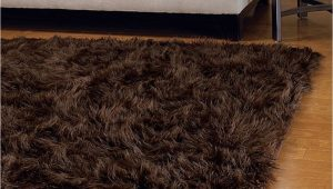 Brown Faux Fur area Rug Brown Mongolian Faux Fur Rug