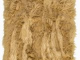 Brown Faux Fur area Rug Charlotte Faux Fur Light Brown area Rug