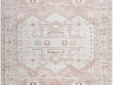 Bungalow Rose Fontanne Pink White area Rug Iohanna southwestern Pink White area Rug