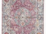 Bungalow Rose Fontanne Pink White area Rug Patchen Lily White Desert Rose area Rug