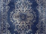 Burciaga Blue area Rug Dara Rugs 3931 Dark Blue oriental 5 X 7 area Rug Carpet