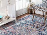 Burciaga Blue area Rug Teppich Burciaga In Blau 2019 Vintage Style Blauer Teppich