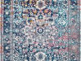 Burciaga Blue area Rug Wrought Studio Burciaga Power Loom Blue Rug Reviews