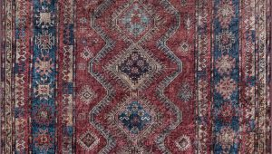 Burgundy and Blue area Rugs Korn oriental Burgundy Blue Gold area Rug