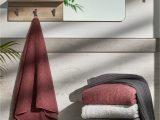 Burgundy Bath Rugs and towels Bath Mats