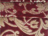 Burgundy Bath Rugs and towels Terrisol Karsten 4 Pc Bath towel Set Burgundy Gold Damask
