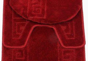 Burgundy Bath Rugs Sets 3 Piece Bath Rug Set Pattern Bathroom Rug 20×32 Large Contour Mat 20×20 with Lid Cover Burgundy