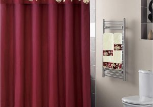 Burgundy Bath Rugs Sets Luxury Home Collection 18 Pc Bath Rug Set Embroidery Non Slip Bathroom Rug Mats and Rug Contour and Shower Curtain and towels and Rings Hooks and