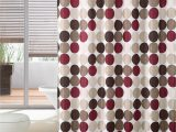Burgundy Color Bath Rugs 3 Piece Bath Rug Set W Shower Curtain and Matching Rings