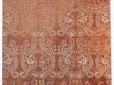 Burnt orange 5×7 area Rug Cleo Burnt orange area Rug by Terri Ellis – Kavkadesigns
