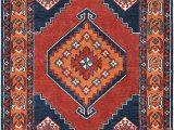 Burnt orange and Blue area Rug Amazon Padilla Dark Blue and Burnt orange Updated