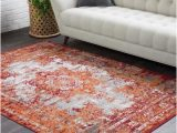 Burnt orange area Rug 8×10 8 X 10 Burnt orange area Rugs Rugs the Home Depot