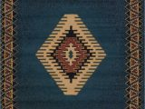 "Cabin area Rugs for Sale south West area Rug Blue Cabin Lodge southwestern Carpet Rustic Look 5 3"" X 7 6"""