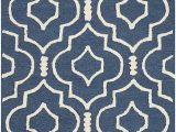 Cambridge Navy Blue Ivory area Rug by Safavieh Safavieh Cambridge Collection Cam141g Handcrafted Moroccan Geometric Navy Blue and Ivory Premium Wool area Rug 2 X 3