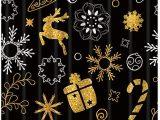 Candy Cane Bath Rug Kotom Christmas Decor Reindeer Bell Snowflakes Branches