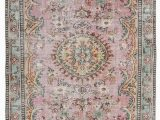 Carina Synthetic Rug Porcelain Blue K Turkish Vintage Rug