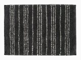 Charcoal Gray Bathroom Rugs Charcoal Gray White Patterned Rectangular Bath Mat In