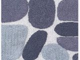 "Charcoal Grey Bath Rugs Pebble Stone Bath Runner Antiskid 24""x60"" soft & Absorbent Bathroom Rugs Non Slip Bath Rug Runner for Kitchen Bathroom Floors Grey Charcoal"