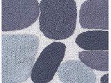 "Charcoal Grey Bathroom Rugs Pebble Stone Bath Runner Antiskid 24""x60"" soft & Absorbent Bathroom Rugs Non Slip Bath Rug Runner for Kitchen Bathroom Floors Grey Charcoal"