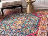 """Cheap 10 by 12 area Rugs Nuloom Meadow Vintage Vibrant area Rug 8 10"""" X 12 Multi"""