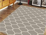 Cheap 5 by 7 area Rugs 5 X 7 area Rug Modern Trellis Design Gray & Ivory Clearance