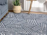 "Cheap 5 by 7 area Rugs Well Woven Cella Blue Geometric Lines Pattern area Rug 5×7 5 3"" X 7 3"""