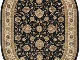 Cheap 7 X 10 area Rugs Raleigh Traditional Floral Black Oval area Rug 7 X 10 Oval