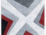 Cheap Red and Grey area Rugs Zonia Red Black Gray area Rug