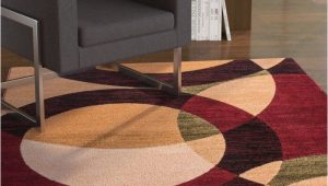 Chelsi Rings Circles area Rug Chelsi Power Loom Red Beige Rug In 2020 Beige Rug