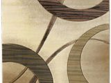 Chelsi Rings Circles area Rug Circles Cream Contemporary 2×8 area Rug Rings Runner