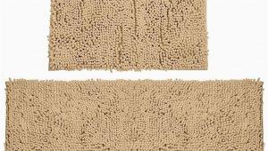 Chenille Memory Foam Bath Rug Bathroom Rugs Chenille Bath Mat Set soft Plush Non Skid Shower Rug toilet Mat Marzipan
