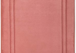Chenille Memory Foam Bath Rug Microdry Quick Drying Memory Foam Framed Bath Mat with Griptex Skid Resistant Base 21×34 ash Rose