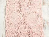 Chiffon Super soft Bath Rug Frayed Roses Bath Mat