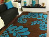 Chocolate Brown and Turquoise area Rugs Affordable area Rugs